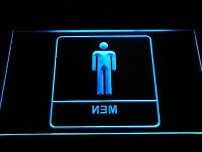 Men Male Boy Toilet Washroom Restroom LED Sign Neon Light Si