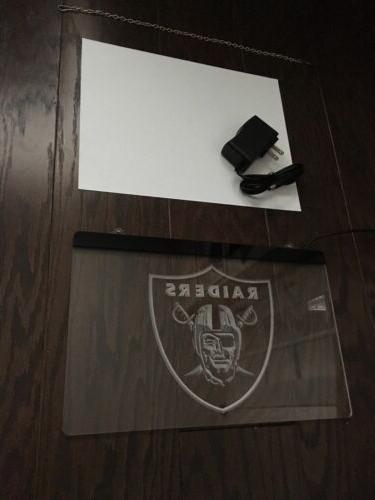 NFL LAS VEGAS RAIDERS LED Game Room,Office,Bar,Man