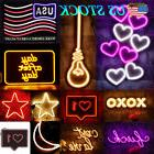 Neon Sign Light USB Visual Artwork Wall Decor LED Night Ligh
