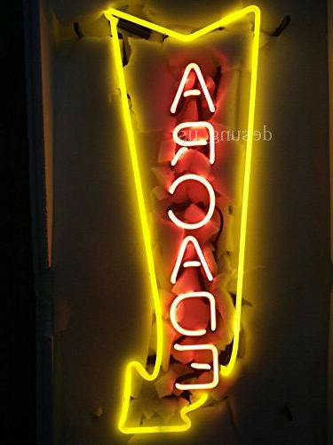 "New Arcade Arrow Game Room Lamp Light Neon Sign 24""x20"""