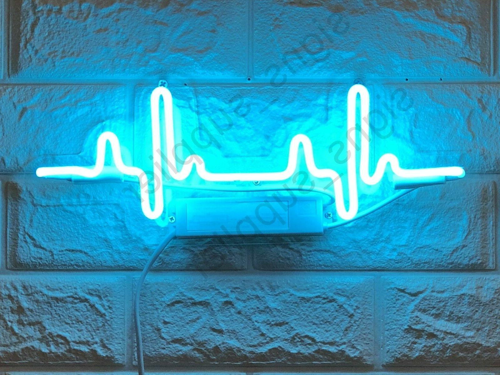 New Beating Heart Rate Acrylic Lamp Wall Decor Artwork  Neon
