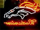 "New Budweiser Broncos Denver Neon Sign 32""x24"""