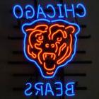 "New Chicago Bears Orange Logo NFL Real Glass Neon Sign 24""x2"