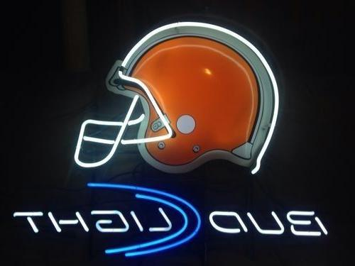 "New Cleveland Browns Bud Light Helmet Neon Sign 20""x16"""