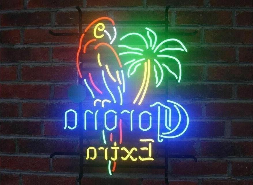 "New Corona Extra Parrot Palm Tree Neon  Sign 20""x16"" Ship Fr"