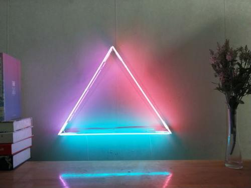 New Equilateral Triangle Neon Sign For Bedroom Wall Home Dec