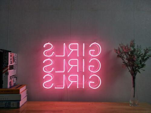 New Girls Girls Girls Neon Sign For Bedroom Wall Home Decor