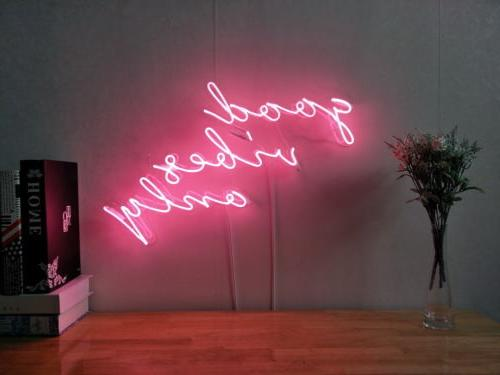 New Good Vibes Only Neon Sign For Bedroom Wall Decor Artwork