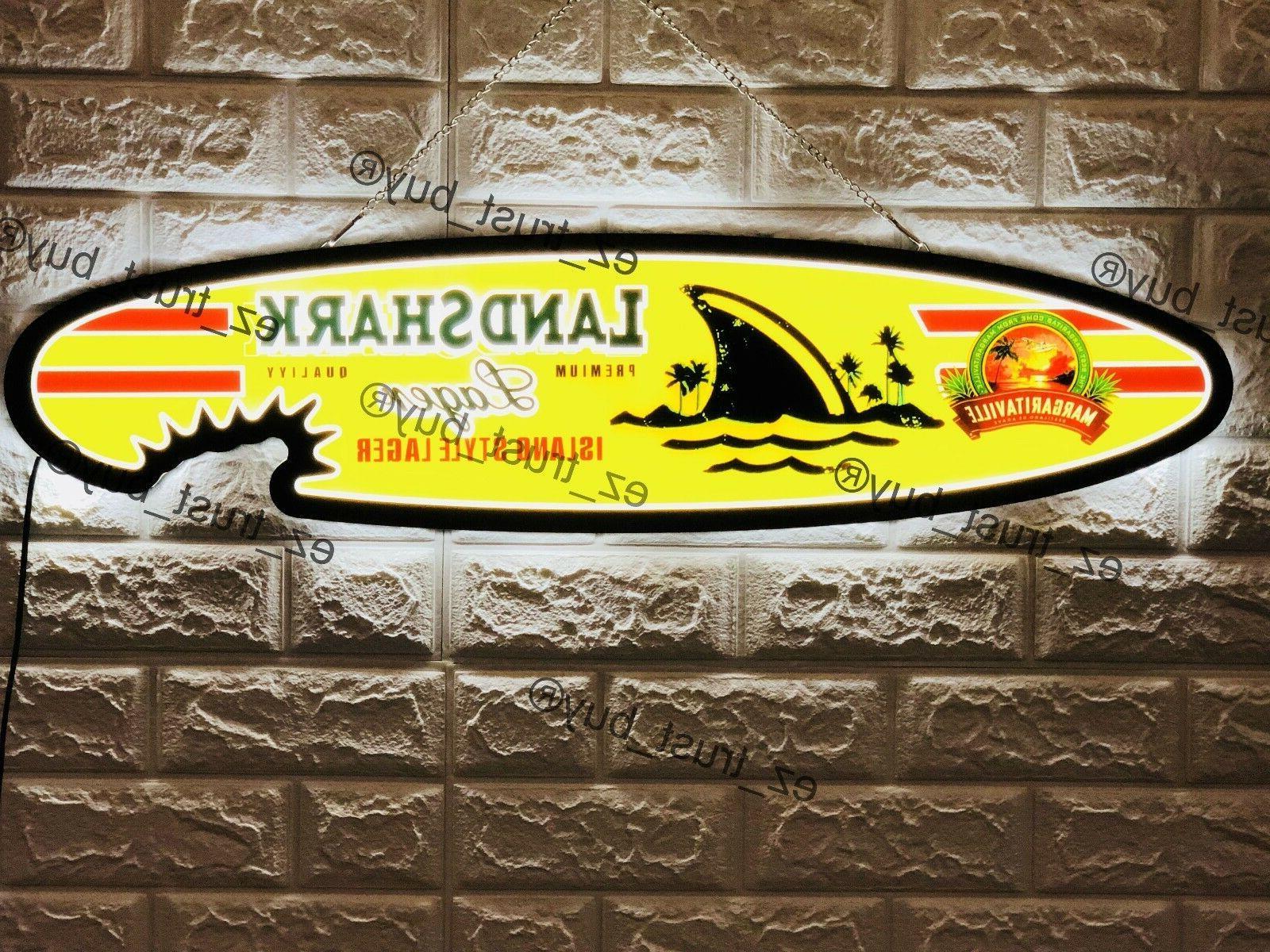 "New Landshark Lager Logo Man Cave 3D LED Neon Sign 32"""