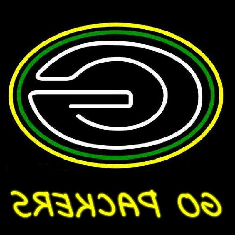 """New NFL Green Bay Packers Go Packers Neon Light Sign 20""""x16"""""""