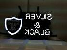 "New Oakland Raiders Silver And Black Neon Sign 20""x16"""