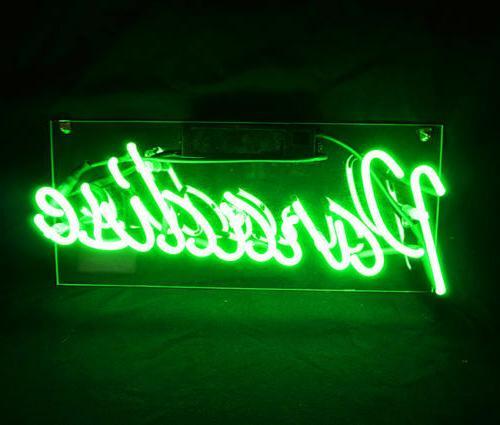 "New Paradise Green Acrylic Neon Light Sign 14"""