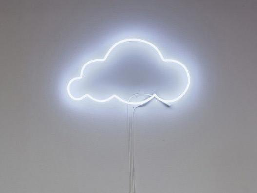 new white cloud acrylic back neon light