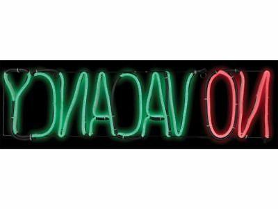 No Vacancy Blinking Neon Lighted Motel Sign Halloween Prop H