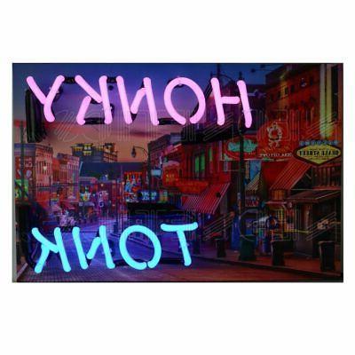 Orange   NEON chrome finish neon clock sign Garage open kitc
