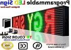 """Red Green Yellow 6"""" x 38"""" Programmable Led Signs Text Neon G"""