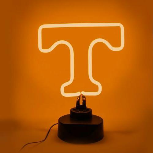TENNESSEE VOLUNTEERS NEON SIGN LIGHT TABLE TOP LAMP MANCAVE