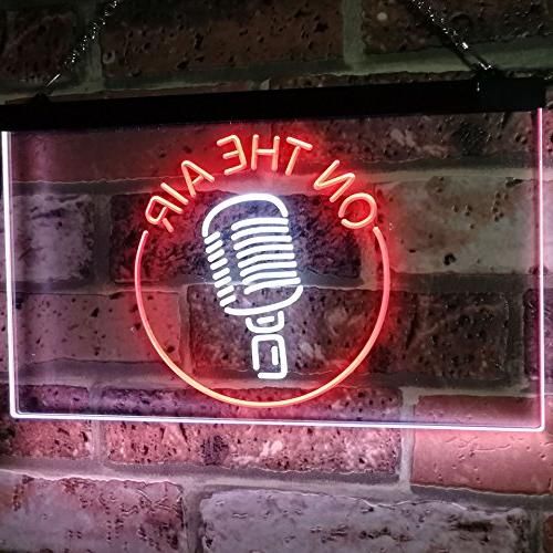 "AdvpPro The Air Studio Signal Color Neon Sign Red 12"" st6s32-m2028-wr"