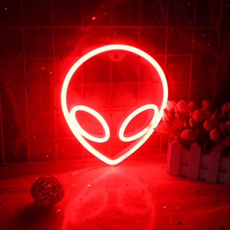 Wanxing Alien LED Red Bedroom Roo