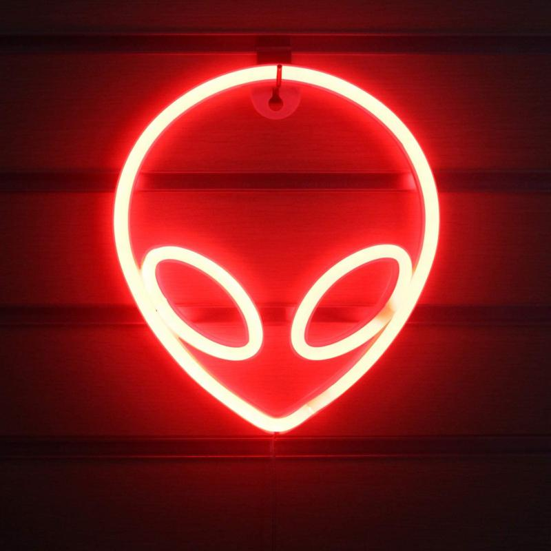 alien neon signs led neon wall sign