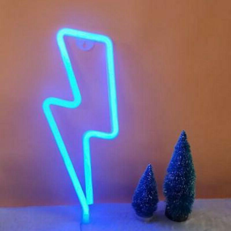 Thunder Lightning Shape Neon Light Bedroom Home Wedding Decor
