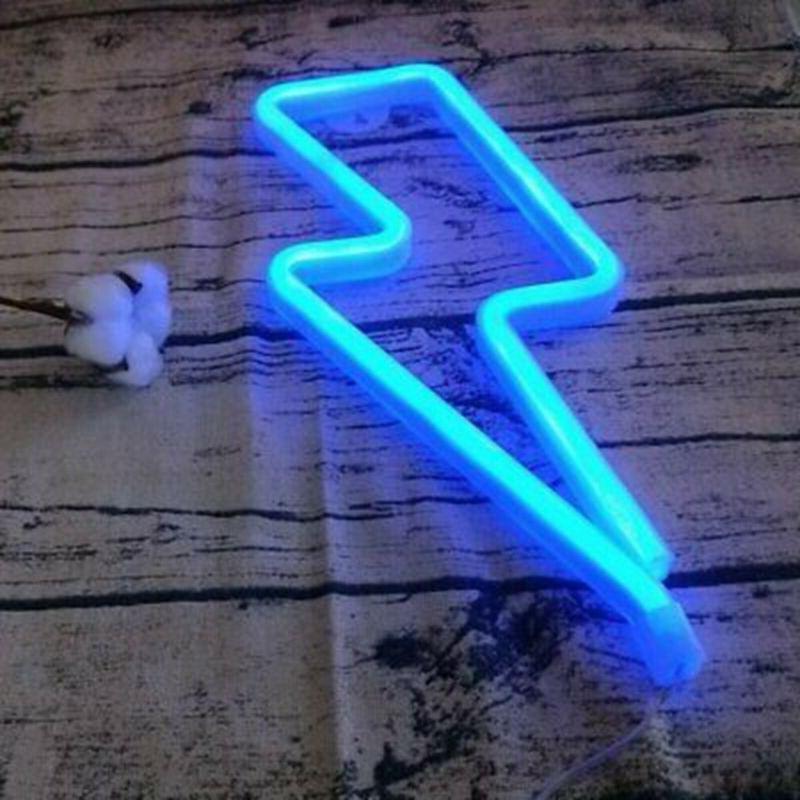 Thunder Light Sign Bedroom Home Wedding