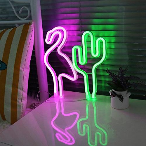 LED Cactus Neon Light Sign Wall Decor Lights Home Decoration Party Supplies Decorative