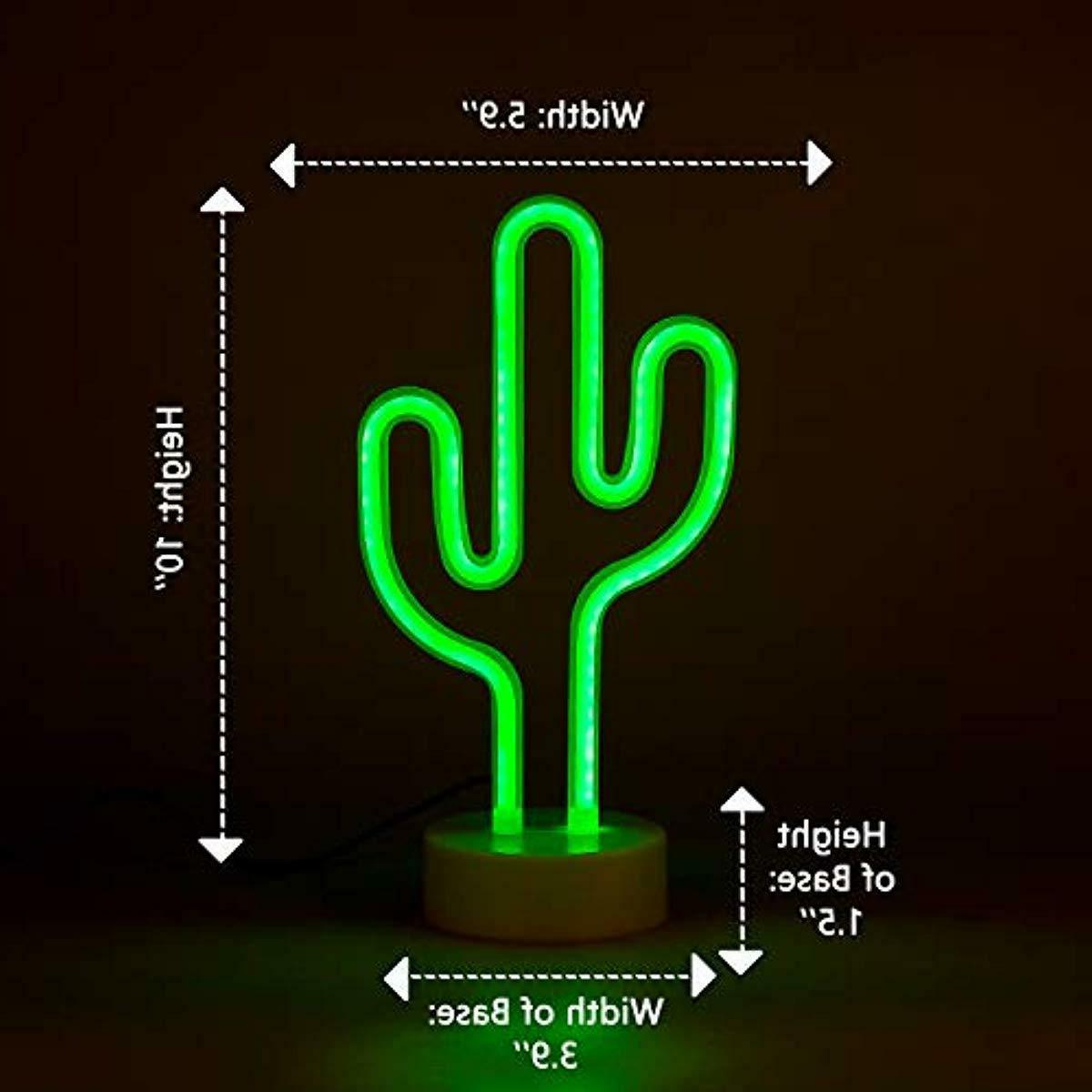 Cactus Neon Nightlight Bedside Lamp Kids Decor