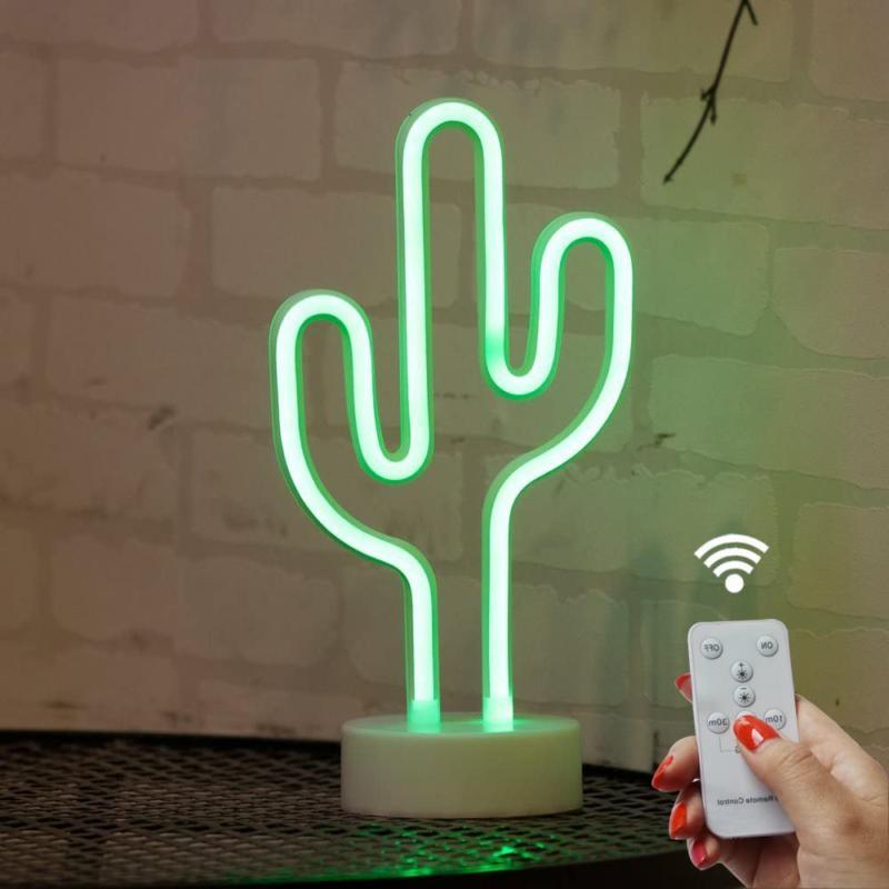 DELICORE Cactus Neon Signs, LED Remote Control Neon Light wi