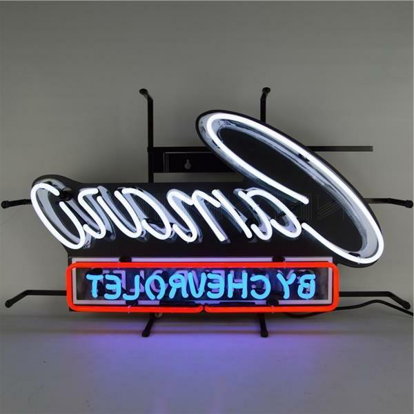 camaro by chevrolet logo neon sign by