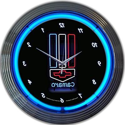 camaro neon wall clock 15 inch