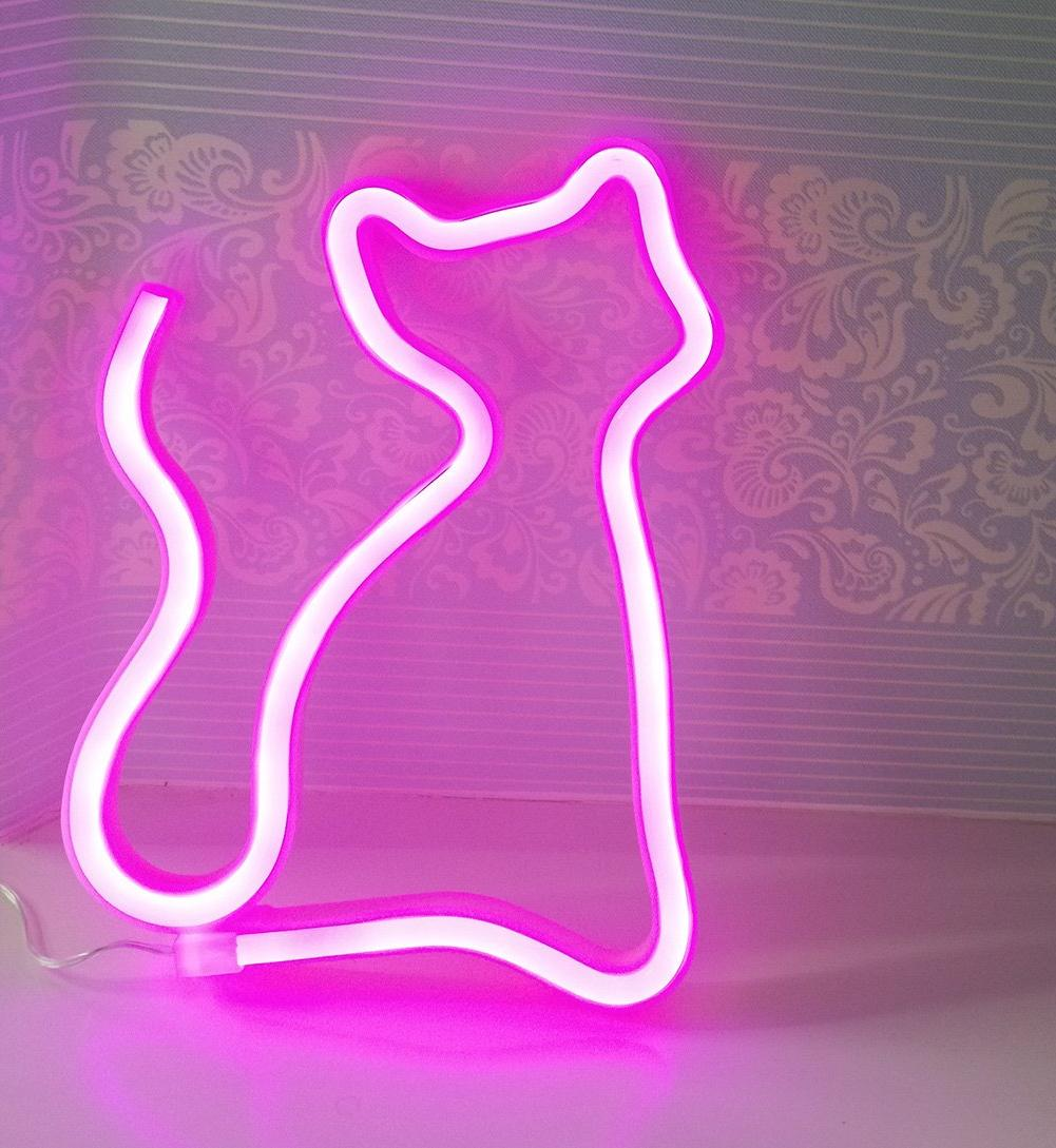 Cat Signs Light Neon Art Decorative for