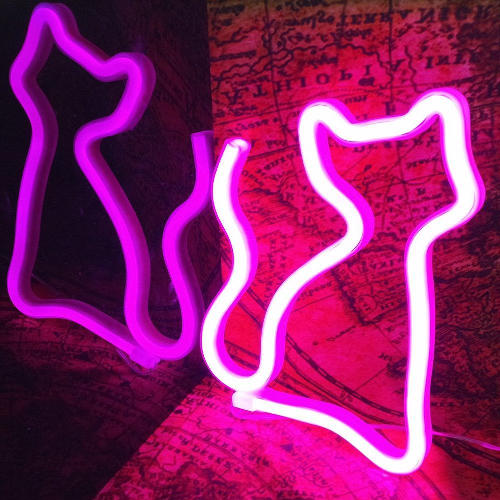 Cat Shaped Light LED Art for