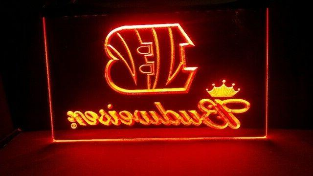 cincinnati bengals neon orange led light sign