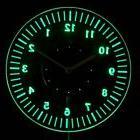 cnc2019-g Classy Numerals Illuminated Wall Neon Clock Sign L
