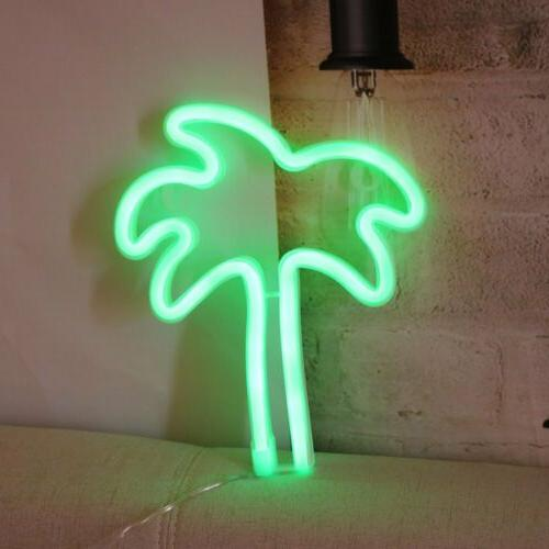 Coconut Tree Neon Sign Decor Light Led Decor Art