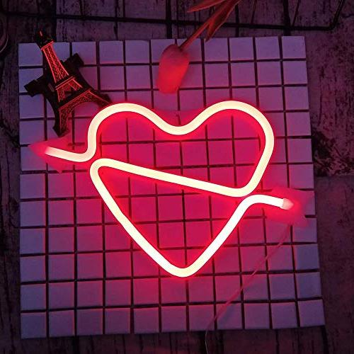 Cupid's Shape Light Romantic Night Lamps Letter Room Decoration, Gifts for Girls