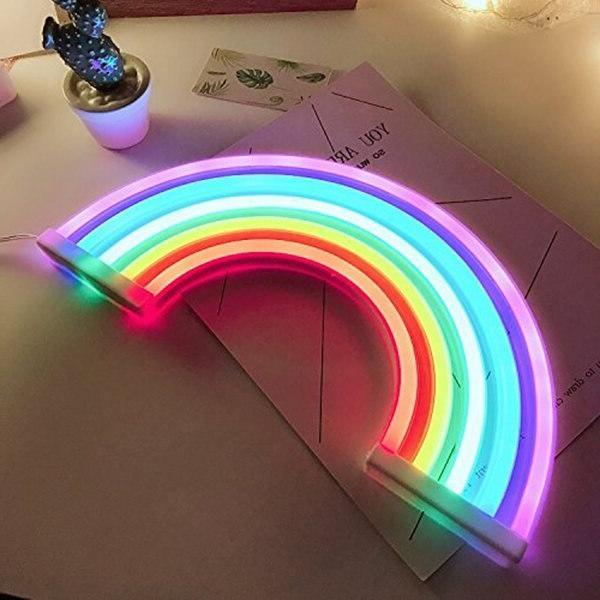 Cute Rainbow Decor,Rainbow <font><b>Neon</b></font> Decor <font><b>for</b></font> Girls