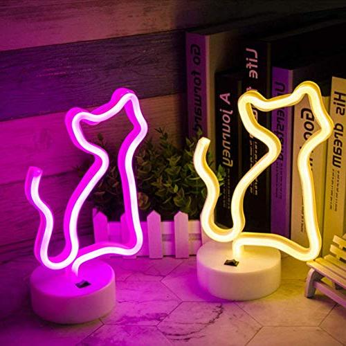 Decorative Cat Light LED Night Light Decor Baby Birthday Party Supplies