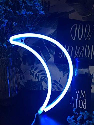 Decorative Moon Neon Neon Wall Light up Sign Art for Home Party