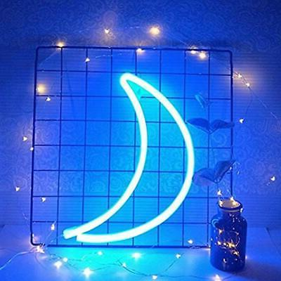 Decorative LED Crescent Neon Wall Home