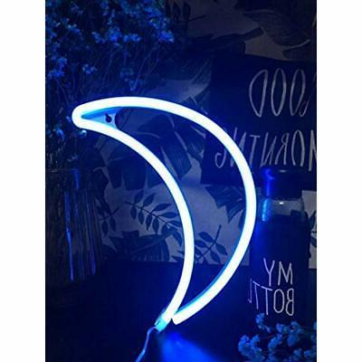 Decorative Crescent Neon Wall Up Home