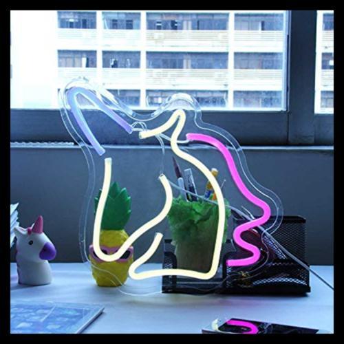 Decorative LED Unicorn Lamp Operated USB I