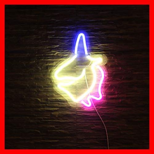 Decorative LED Unicorn Shaped Neon Lamp USB I