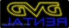 DVD Rental Outdoor LED Sign 13 x 32