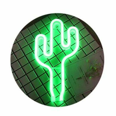 ENOULI Green Cactus Neon Light USB LED neon Sign