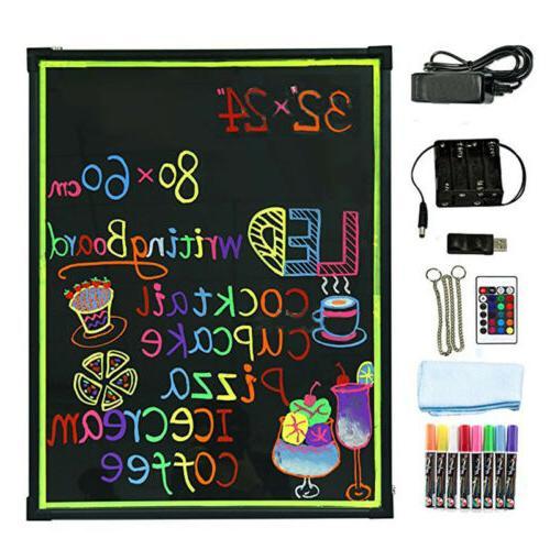 "Flashing LED Writing Board 32"" x 24"""