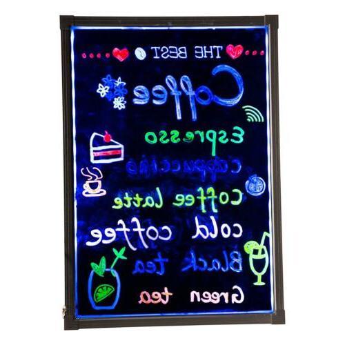 """Flashing Illuminated Neon LED Menu Sign Writing 24"""""""