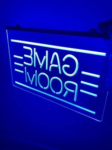 GAME ROOM LED Light Neon Sign for Game Room,Office,Bar,Man C