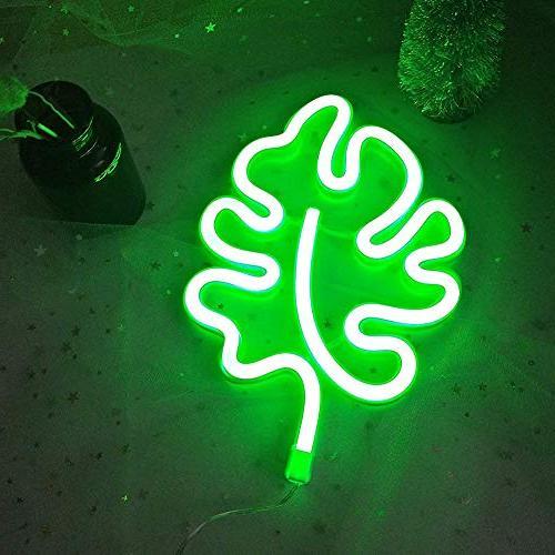 Green Neon Cute LED Light Signs Night Lamp Decor Kids Bedroom